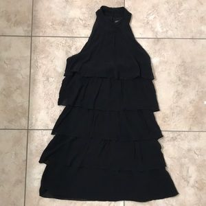 Armani Exchange Black Ruffle Cocktail Dress
